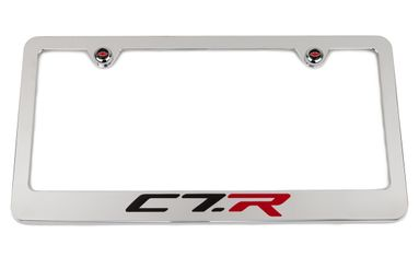 Chevrolet Corvette C7.R Edition Chrome License Plate Frame