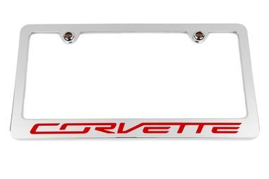 Chevrolet Corvette C7  Red License Plate Frame