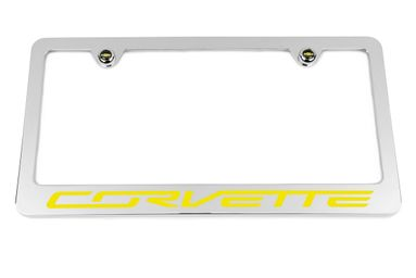 Chevrolet Corvette C7 Yellow License Plate Frame