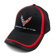Chevrolet Corvette C8 Carbon Fiber Racing Flag Black Hat