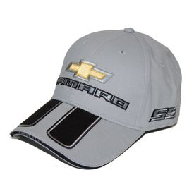 Chevrolet Silver Camaro Hat - SS Rally Stripe