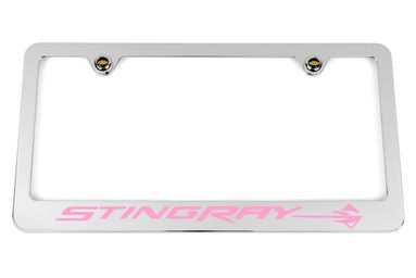 Chevrolet Stingray C7 Pink License Plate Frame