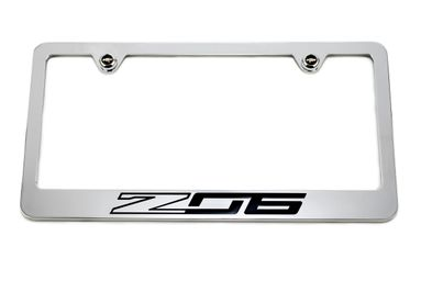 Chevrolet Z06 C7 Chrome License Plate Frame