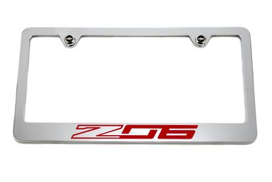 Chevrolet Z06 C7 Red License Plate Frame