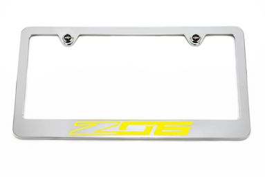 Chevrolet Z06 C7 Yellow License Plate Frame