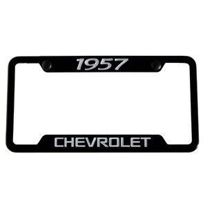 Classic Years Chevrolet Satin Black License Plate Frame