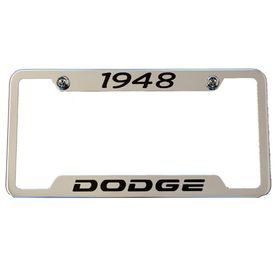 Classic Years Dodge Chrome License Plate Frame