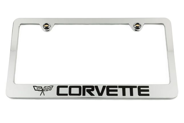 Chevrolet Corvette C2 Chrome License Plate Frame
