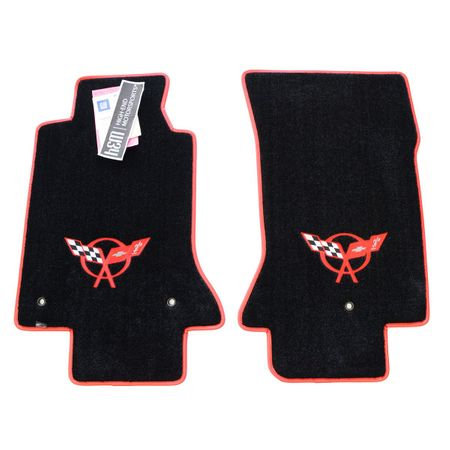 Chevrolet Corvette C5 Floor Mats 1997-2004 (Red Logo)