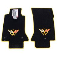 Chevrolet Corvette C5 Floor Mats 1997-2004 (Yellow Logo)