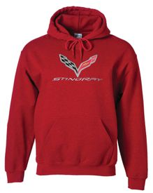 Quality Corvette C7 Stingray Red Hooded Sweatshirt