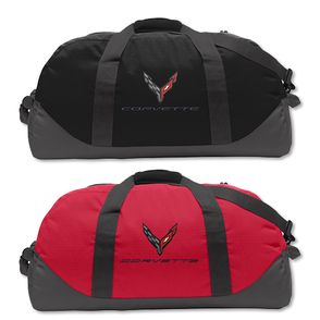 Corvette C8 Duffel Bag Red or Black