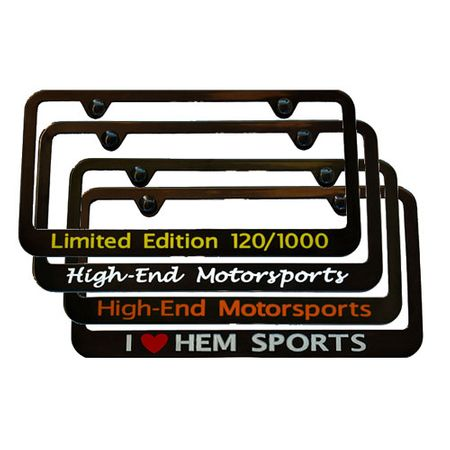 Custom Satin Black License Plate Frame