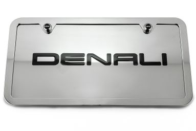 Denali Chrome License Plate Tag and Stainless Steel Frame