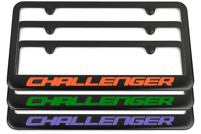 Dodge Challenger Black License Plate Frame