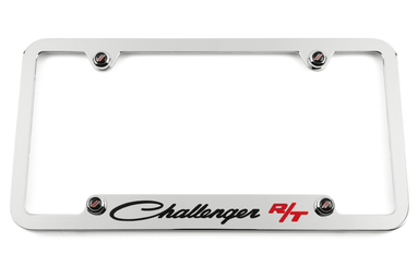 Dodge Classic Challenger R/T Notched Bottom Chrome License Plate Frame