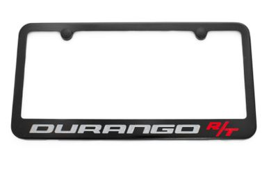 Dodge Durango R/T Satin Black License Plate Frame