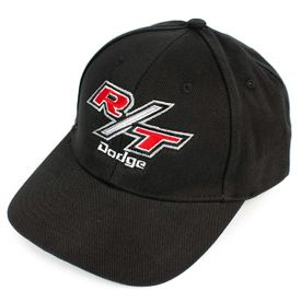 Dodge R/T Black Brush Twill Hat