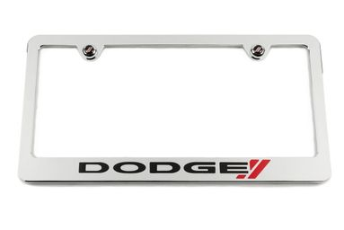 Dodge Racing Chrome License Plate Frame