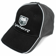 Dodge Viper Two Tone with Snake Logo Hat (Black & Charcoal)