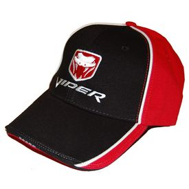 Dodge Viper Two Tone with Snake Logo Hat (Black & Red)