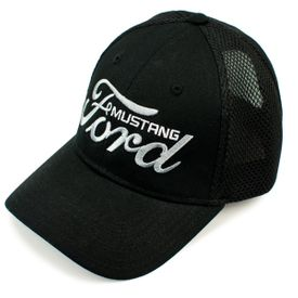 Ford Mustang Black Mesh Back Hat