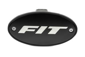 Honda Fit Black Hitch Cover - Silver Logo