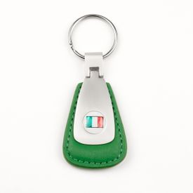 Italian Flag Leather Teardrop Fob