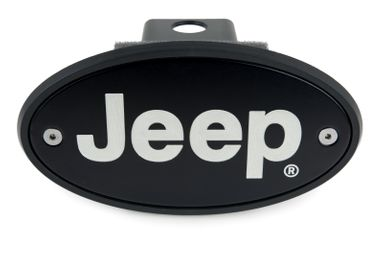 Jeep Hitch Cover - Black - Engraved