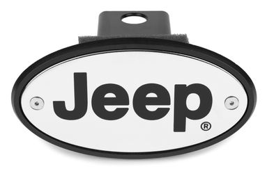Jeep Hitch Cover - Chrome - Engraved
