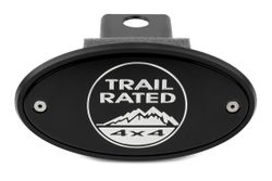 Jeep Trail Rated Black Receiver Hitch Cover