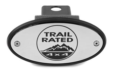 Jeep Trail Rated Chrome Receiver Hitch Cover