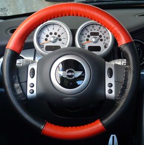 Mini Cooper Leather Steering Wheel Cover