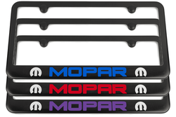 Mopar M Dodge Satin-Black License Plate Frame