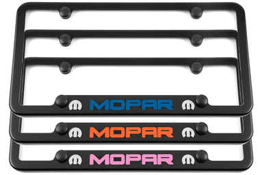 Mopar Satin Black Notched Bottom License Plate Frame