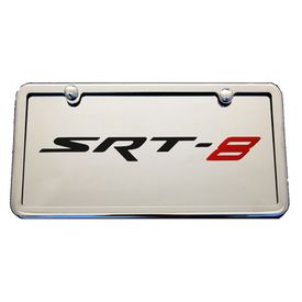 SRT8 Chrome License Plate Tag and Stainless Steel Frame