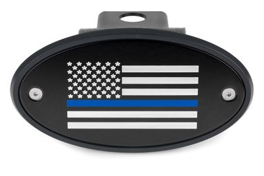Thin Blue Line American Flag Hitch Cover