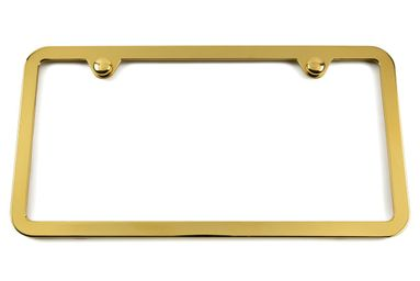 Thin Gold License Plate Frame