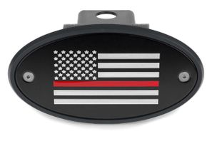 Thin Red Line American Flag Hitch Cover