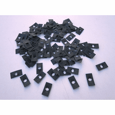 "1/8"" Stud size Flat Nuts 5/16"" x 9/16"" (100) Emblems Scripts Speed Nuts"