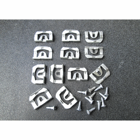 1970-1981 Trans Am Camaro Rear Glass Reveal Moulding Clips with Screws  12+ 12