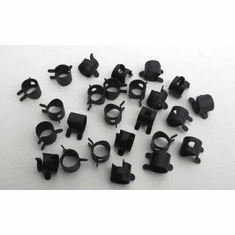"3/8"" OD Spring Action Hose Clamps (25) Black"