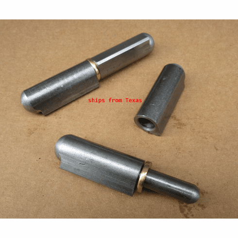 """4""""X 5/8"""" Weld On Bbq Smoker Pit Bullet Door Lid Hinge Non greasable Brass Pin (2)"""