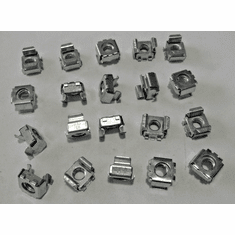 "5/16""-18 Screw Size Square Type Cage Nuts Panel Range .093-.126 1/2"" Hole ZinC"
