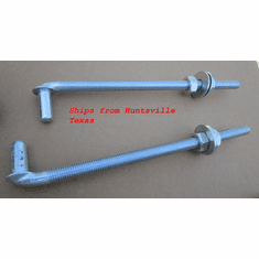"5/8"" X 12"" Threaded J Bolt Adjustable Male Post Pin Hinge Chain Link Gate (2)"