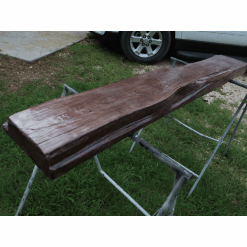 "62-1/2"" Long Cedar Fireplace Mantel Burgundy Wine Finish 3-Layers Clear Coat 2-5/8"" Tall X 10-1/2"" Wide Live Edge"