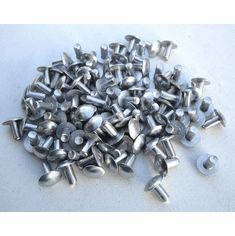 "Brazier Head 3/16"" Aluminum Rivets (100) 3/8"" Long"