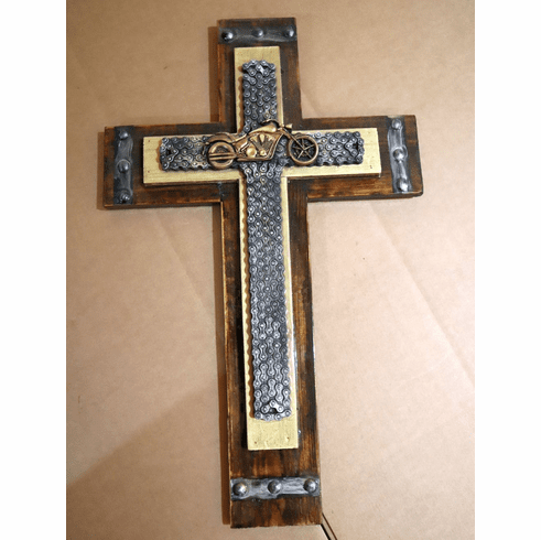 Custom Motorcycle Chain Cross with Epoxy Resin Finish 3-Individual Crosses in 1