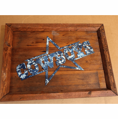 "Dallas Cowboys Wall Decoration Metal & Wood Hand Painted 20' X 15"" X 2"""