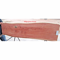 "Fireplace mantel Texas Red Aromatic Cedar Slab 60-1/2"" X 16-1/4"" X 3-1/2"""